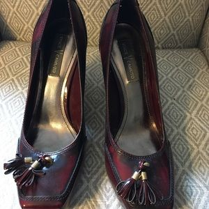 Vince Camuto Burgundy High Heel Loafers